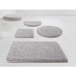 badmat »mellow«, kleine wolke exklusiv, hoogte 40 mm, met antislip-coating grijs