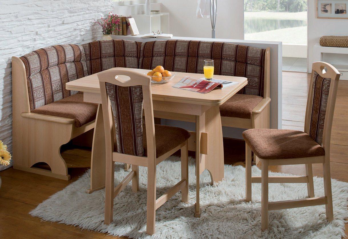 Eethoek, Schosswender, tafel met paneelpoten, 4-delige set