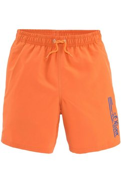 s.oliver red label beachwear zwemshort oranje