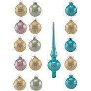 thueringer glasdesign kerstbal multicolor