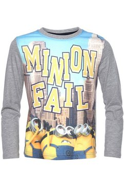 minions shirt met lange mouwen grijs