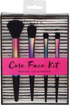 technic make-up penseel 'core face kit', 4-delige set zwart