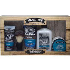 man'stuff cadeauset (5-delig) blauw