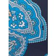 lascana push-upbikinitop boho met paisley patroon blauw