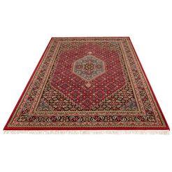 wollen kleed, »fares«, delavita, rechthoekig, hoogte 12 mm, met de hand geknoopt rood