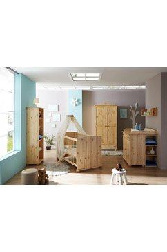 ticaa complete babykamerset adam bed + commode + kast + onderkast + staand rek (set, 5 stuks) beige