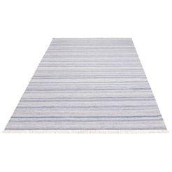 vloerkleed, »einar«, andas, rechthoekig, hoogte 4 mm, met de hand geweven blauw