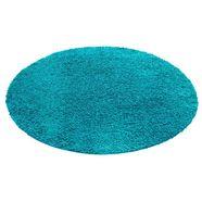 hoogpolig vloerkleed, rond, home affaire, »viva«, hoogte 45 mm, geweven blau