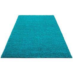 hoogpolig vloerkleed, home affaire collection, »shaggy 30«, hoogte 30 mm, geweven blau