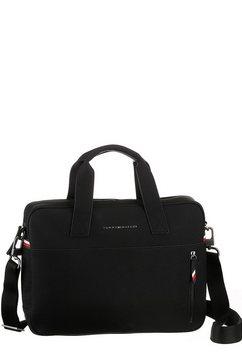 tommy hilfiger messengerbag »essential computer bag« zwart