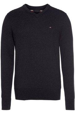 tommy hilfiger trui met v-hals »pima cotton cashmere v neck« zwart