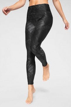 puma functionele tights »be bold aop 7-8 tight« zwart