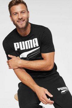 puma t-shirt »rebel bold tee« zwart