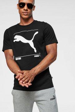 puma t-shirt »nu-tillity graphic tee« zwart