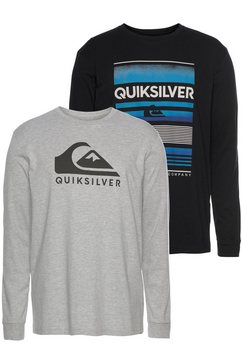 quiksilver longsleeve »high mt  wave rethin pack« grijs