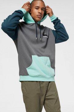 quiksilver hoodie »heritage midori blank« grijs
