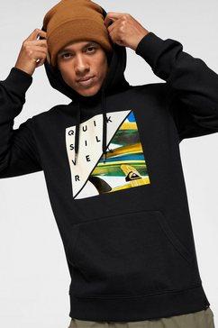 quiksilver hoodie »typ staxed mym« zwart