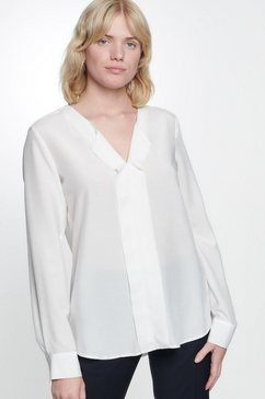 seidensticker blouse zonder sluiting »schwarze rose« beige