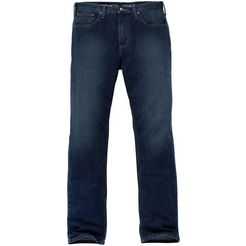 carhartt werkbroek »rugged flex straight tapered jean«, stretch blauw