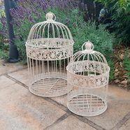 ambiente haus vogelkooi set van 2 geschikt voor buitengebruik (set) wit