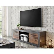 home affaire tv-meubel brooklyn decoratieve randen, tv-tafel in industrial-stijl grijs