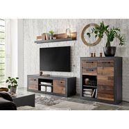 home affaire wandmeubel brooklyn in een decoratieve frame-look grijs