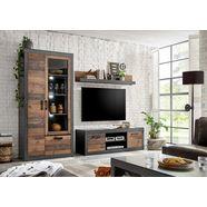 home affaire wandmeubel brooklyn in een decoratieve frame-look (3 stuks) grijs