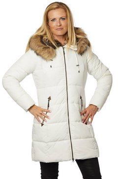 danwear gewatteerde jas wit