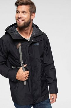 jack wolfskin regenjack »cape point« zwart