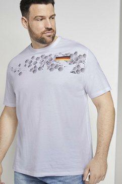 tom tailor men plus t-shirt »t-shirt mit em-deutschland-print« wit