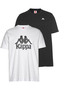 kappa t-shirt »villest 2« (set van 2) zwart
