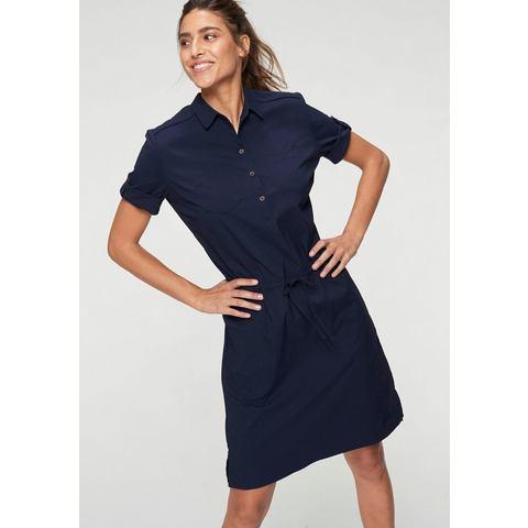 NU 21% KORTING: Jack Wolfskin jurk met overhemdkraag DESERT PARK DRESS