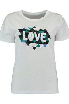 zabaione shirt met ronde hals »mia« wit