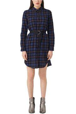 q-s designed by jurk met overhemdkraag blauw