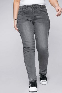 sheego stretch jeans grijs