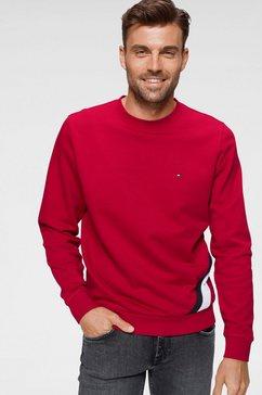 tommy hilfiger sweatshirt »diagonal gs sweatshirt« rood