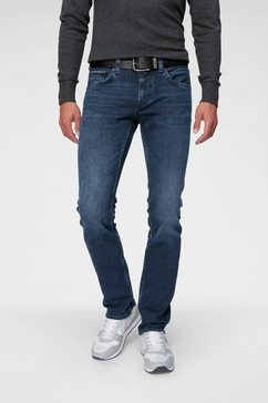 tommy hilfiger straight jeans »straight denton« blauw