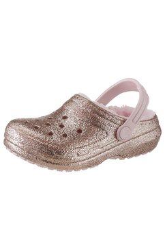 crocs clogs »classic glitter lined clog« goud
