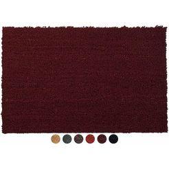 mat, »kokos«, primaflor-ideen in textil, rechthoekig, hoogte 17 mm rood
