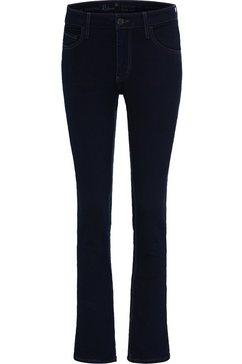 mustang jeans broek »rebecca« blauw