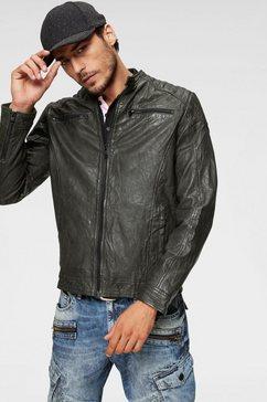 jack  jones leren jack »liam leather jacket« groen