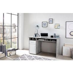 wilmes bureau multicolour met 1 deur, 1 lade, 3 vakken wit