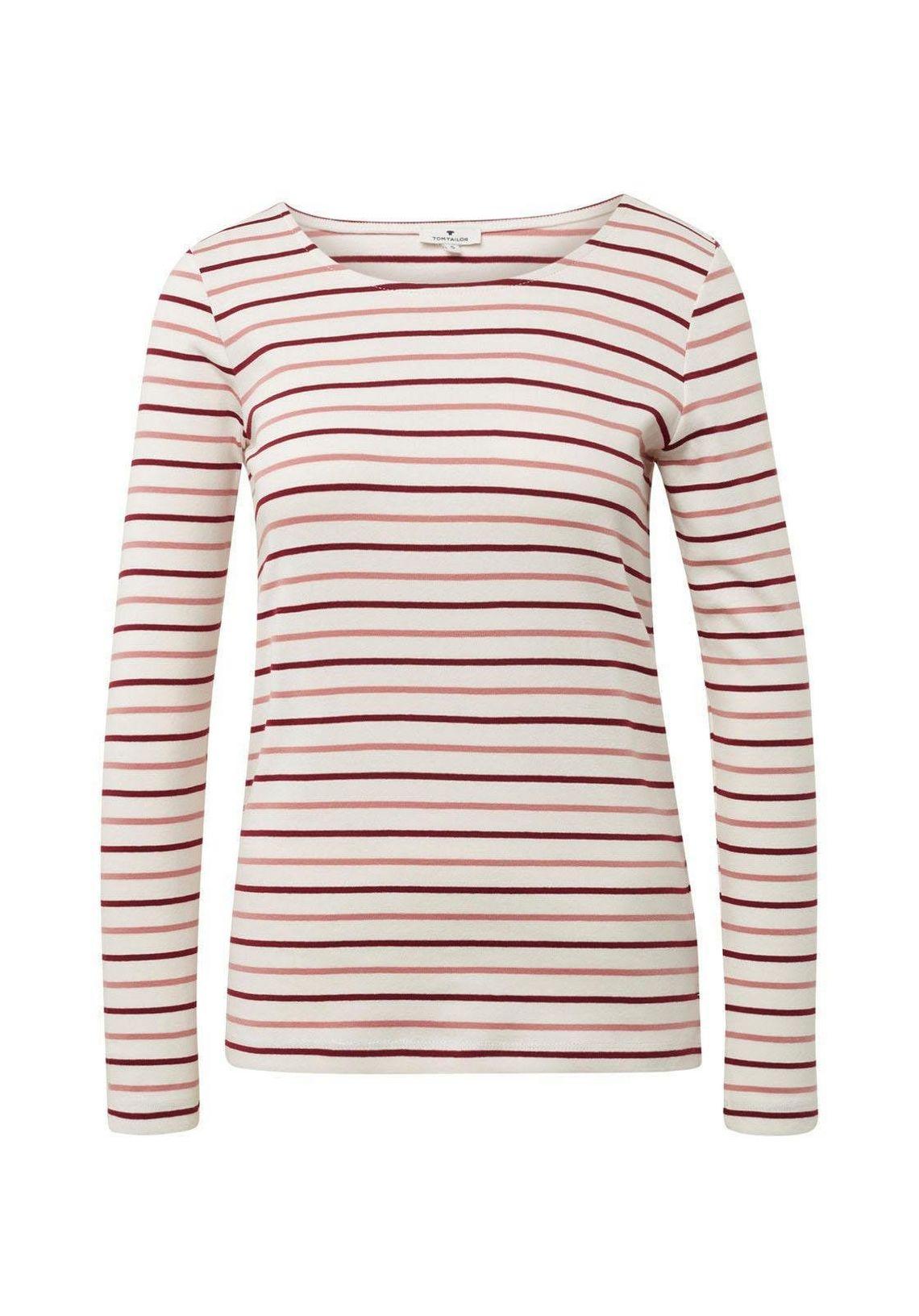 Tom Tailor Shirt Met Lange Mouwen In De Online Winkel Wolwit Gestreept wGtfiQIy