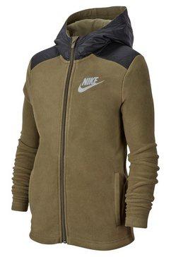 nike sportswear fleecejack »boys nike sportwear hoodie fullzip winterized« groen