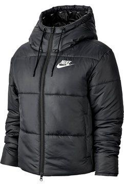 nike sportswear gewatteerd jack zwart