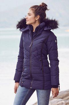 alpenblitz winterjack »pistenglueck« blauw