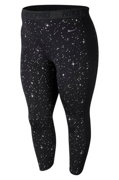 nike functionele tights »women nike performance story night metalic tight plus size« zwart