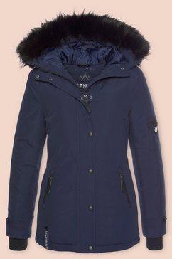 alpenblitz winterjack »moskau« blauw