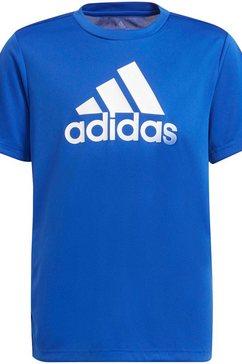 adidas t-shirt adidas boys designed to move big logo t-shirt blauw