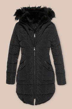 alpenblitz doorgestikte jas »paris« zwart